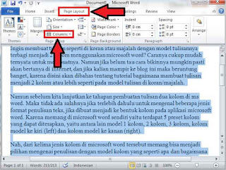 Cara Membuat Tulisan 2 Kolom Di MS Word Seperti Tampilan Koran