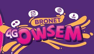 Tarif dan Cara Aktivasi Paket Bronet 4G Owsem Axis