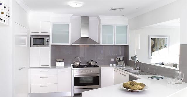: Decoração de Cozinhas Brancas Modernas! Com Ilha e Americana