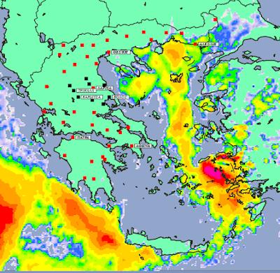 2 - Μπόρες και καταιγίδες σε μεγάλο μέρος της χώρας και της Θεσσαλίας (+XAΡΤΕΣ ΥΕΤΟΥ)
