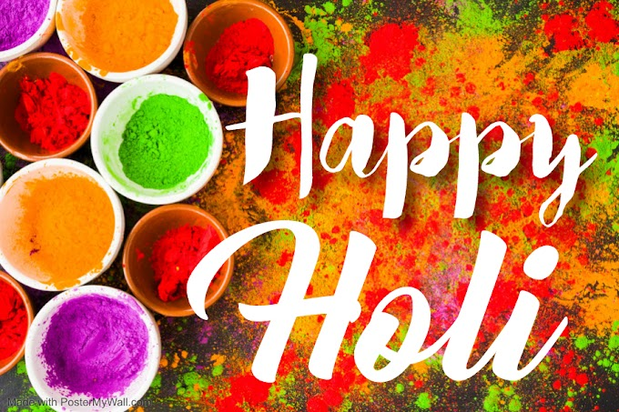 Happy Holi 2021:Colourful Day a Colourful life