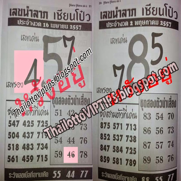 Thai Lottery Hot Exclusive Paper 02-05-2014