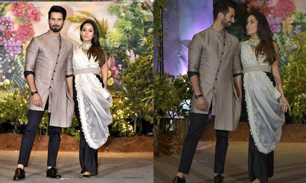 shahid kapoor and meera rajput at sonam kapoor wedding