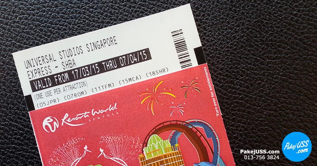 Express Pass Universal Studios Singapore Pakej Lengkap Ke