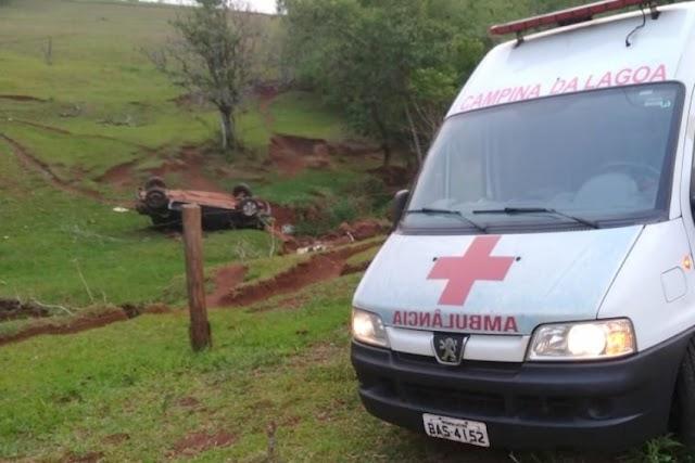 Jovens perdem a vida após capotamento de veículo em Campina da Lagoa
