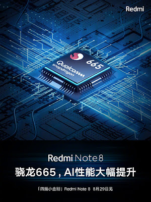 Redmi Note 8  Snapdragon 665 processor