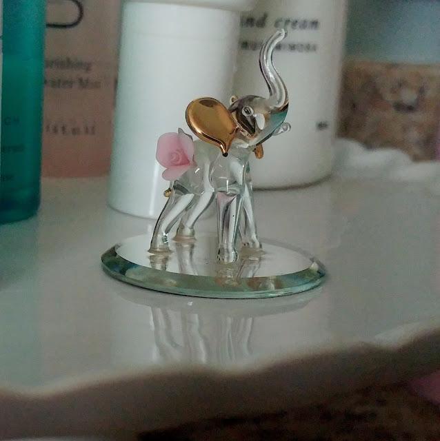 Crystal Elephant Figurine
