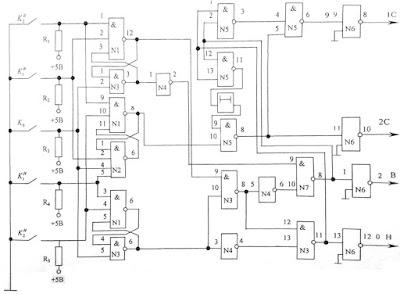 Логическая схема управления 2-х скоростным электродвигателем переменного тока