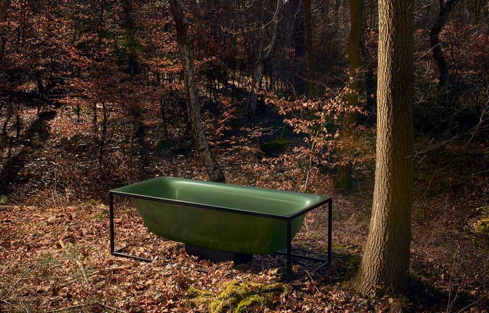la vasca BetteLux Shape nella nuova variante cromatica Forest