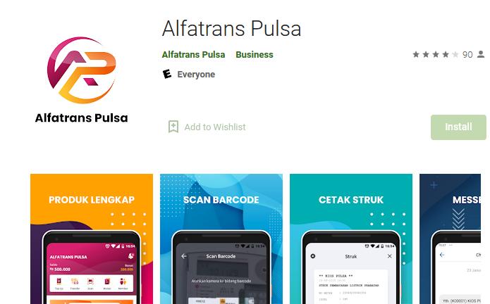 Download Instal Aplikasi Android Alfatrans Pulsa APK