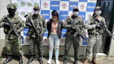 """Alias """"La Mona"""" presunta  integrante del """"Clan del Golfo""""  es capturada en Bojayá"""