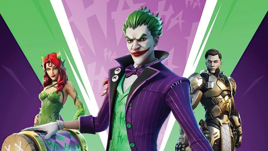 Fortnite, Joker, Poison Ivy, DC, Skins, Outfits, 4K, #3.2640