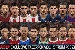 Exclusive Facepack Vol. 15 - PES 2019