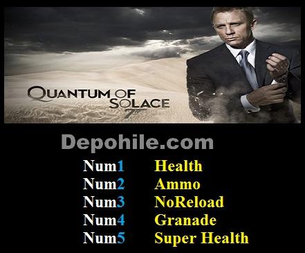 James Bond 007 Quantum of Solace (PC) Can, Sekmeme +5 Hile