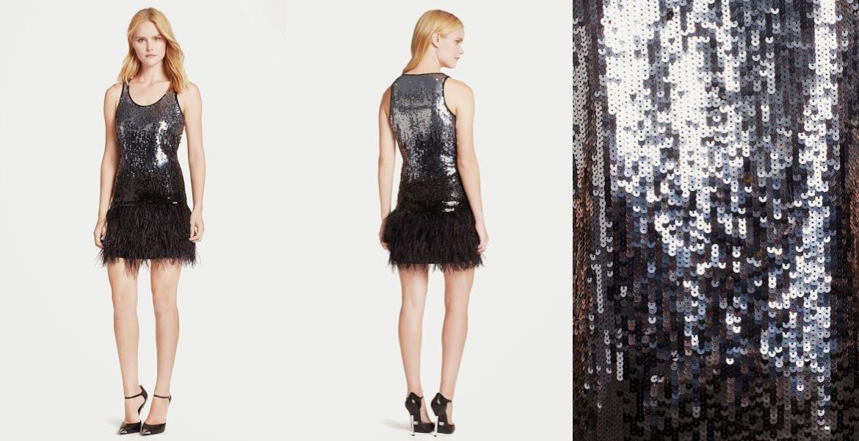ef1496e0a71 MICHAEL Michael Kors Sequin   Feather Tank Dress