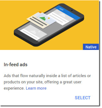 create in-feed ad unit in adsense