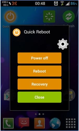Menambah menu screenshot, reboot dan recovery