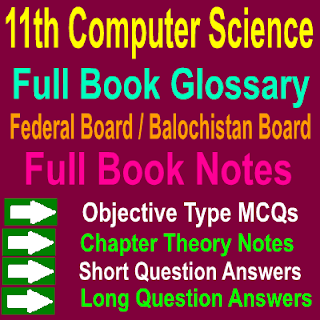 Full Book Computer Scinece Federal Board Balochistan Board Notes Chapter Wise PDF Free Download