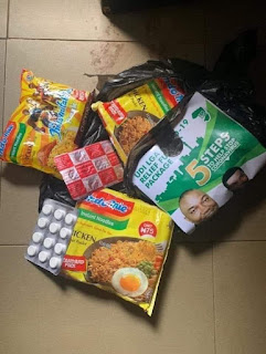 Nigerians Reacts as Two Sachet of Paracetamol, and 3 parks of indomie is giving to them as Covid-19 relieve materials