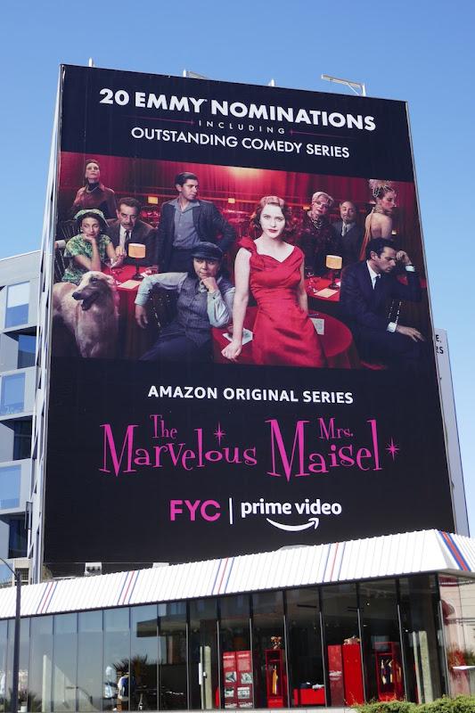Mrs Maisel 2020 Emmy nominee billboard