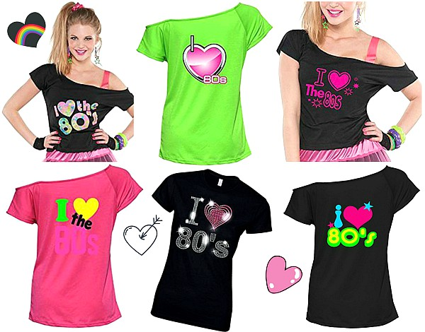 80s Fashion Online  I Love The 80s T shirts for Ladies I Love The 80s T shirts for Ladies