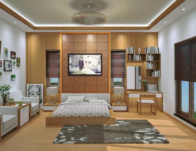 phòng ngủ sàn gỗ đẹp