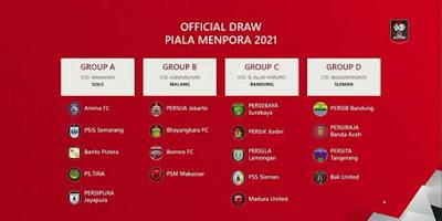 Hasil Drawing Piala Menpora: Group B dan C Jadi Sorotan Netizen?