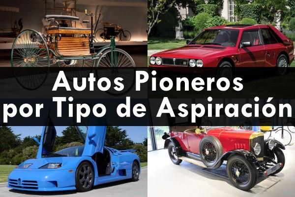 Autos pioneros por tipo de aspiración