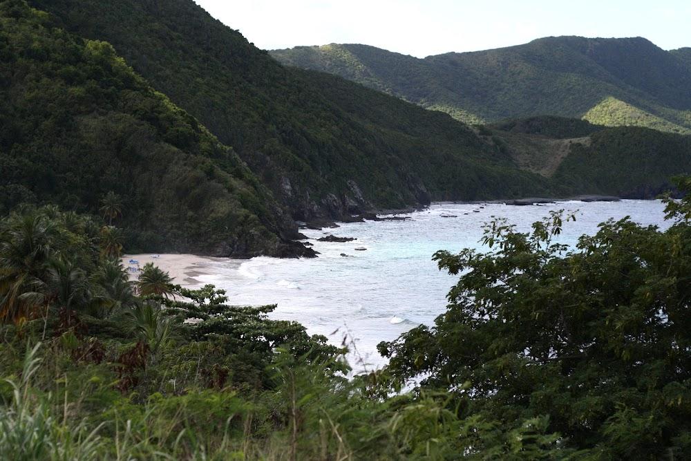 virgin island bluff view