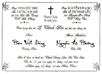 mẫu thiệp cưới cho người đi đạo