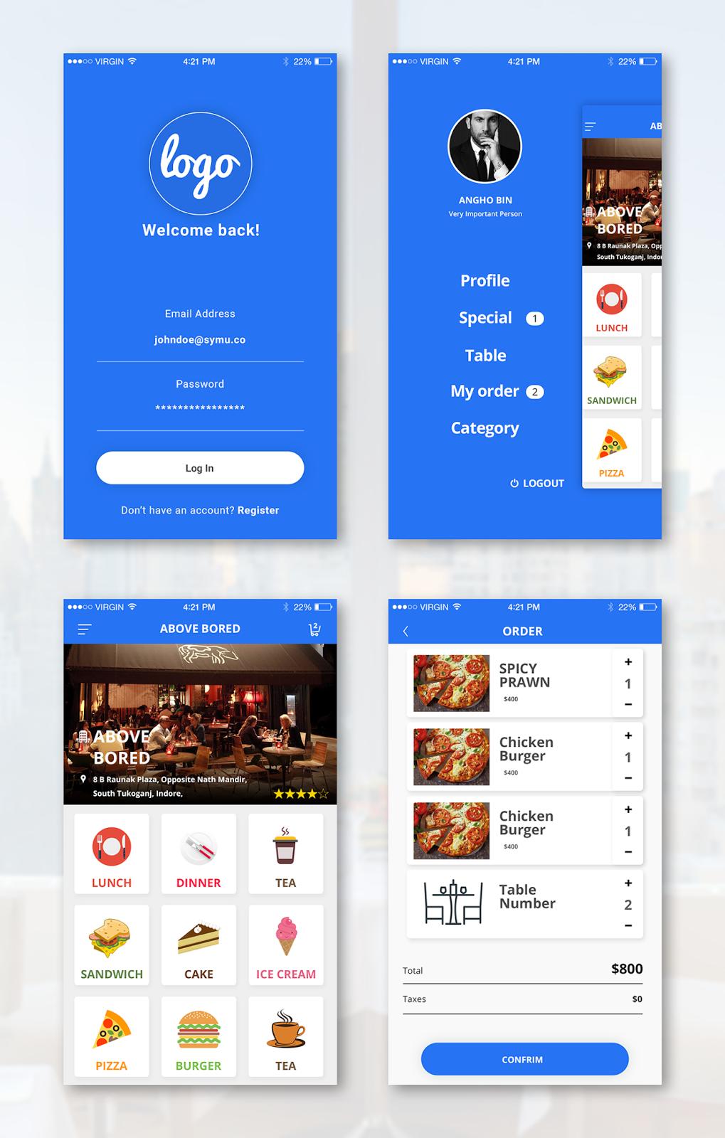Restauraints App UI