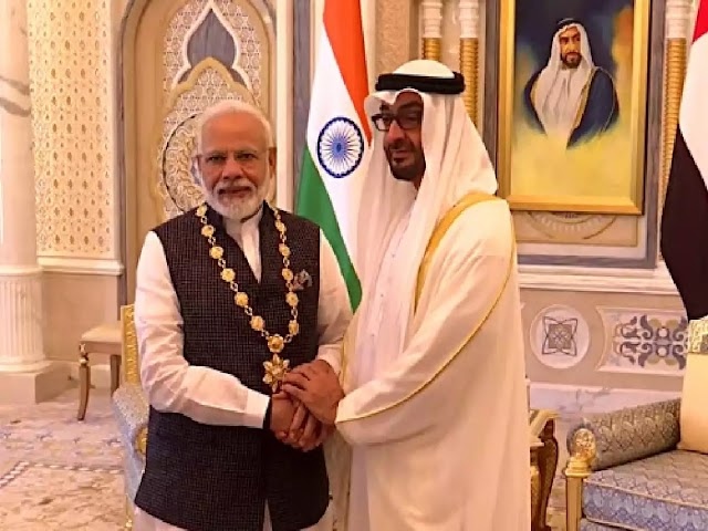 PM Modi conferred with Order of Zayed, launches RuPay card in UAE