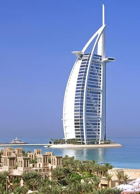 5-star rated luxury hotel Burj Al Arab