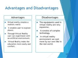 Advantages & Disadvantage of Virtual Reality