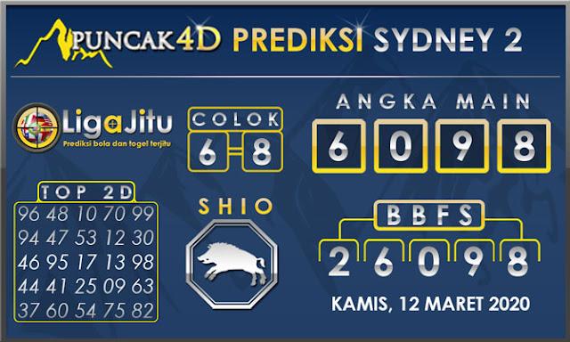 PREDIKSI TOGEL SYDNEY2 PUNCAK4D 12 MARET 2020