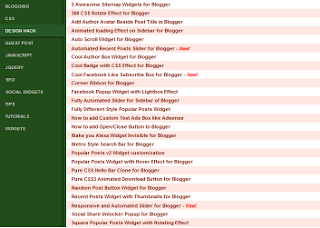 Sitemap Page for Blogger