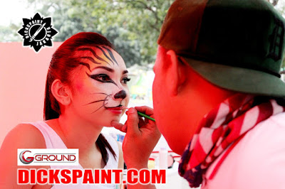 face painting jakarta tiger