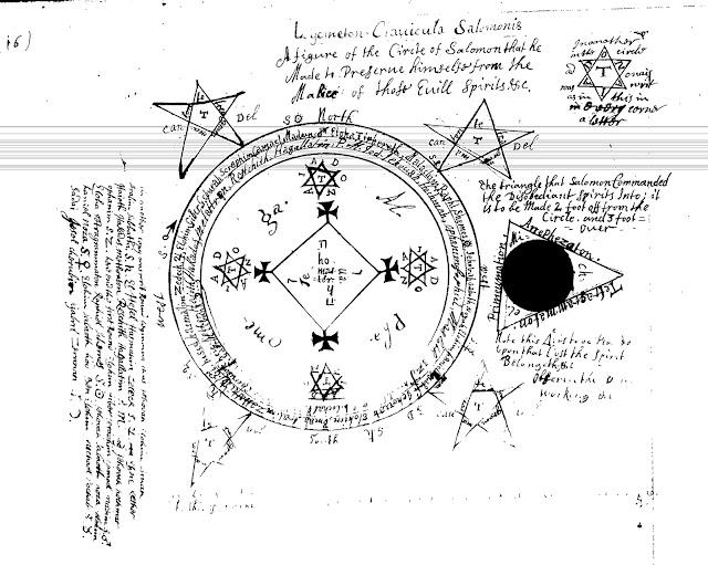 Ms Sloane 2731 - Clavicula Solomonis Goetia Circle