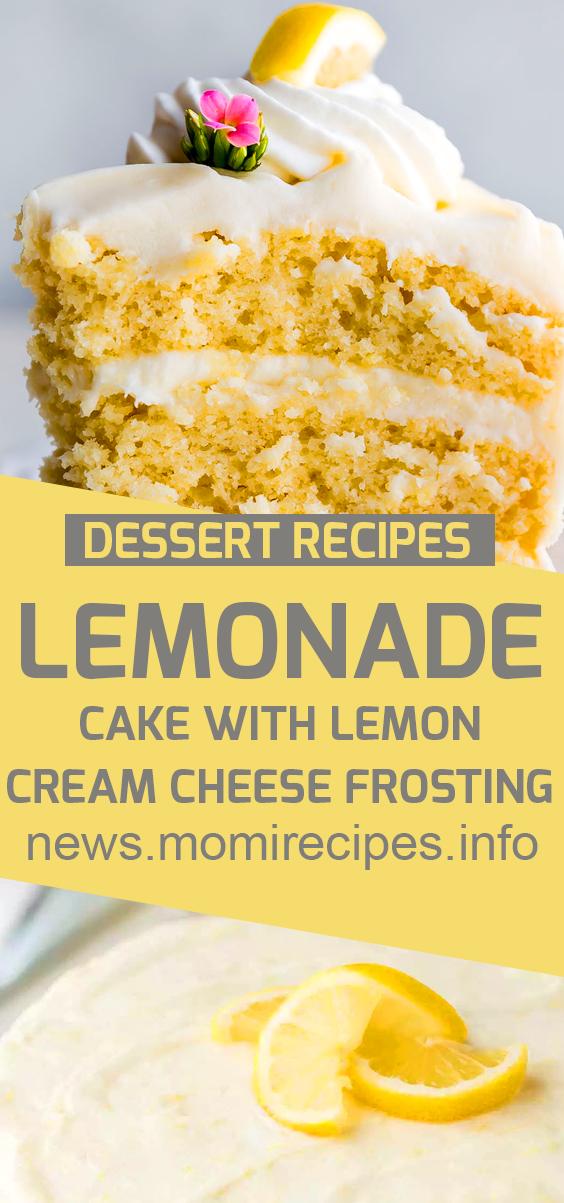 lemonade cake with lemon cream cheese frosting | cake recipe, dessert recipes, chocolate cake recipe, carrot cake recipe, chocolate cake, easy cake recipes, cheesecake recipe, easy dessert recipes, baking recipes, sponge cake recipe, simple cake recipe, fruit cake recipe, vanilla cake recipe, pound cake recipe, chocolate recipes, apple cake recipe. #lemonadecake #lemoncake #creamcheese #frosting #cakerecipe #dessertrecipe