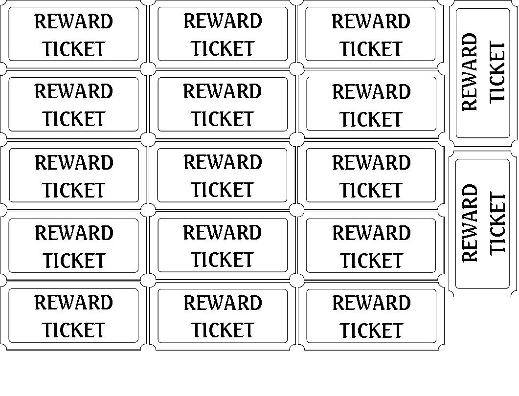 Ticket Printable Template printable full page ticket template – Printable Tickets Free