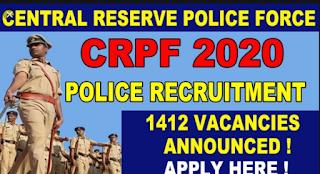 crpf vacancy 2020