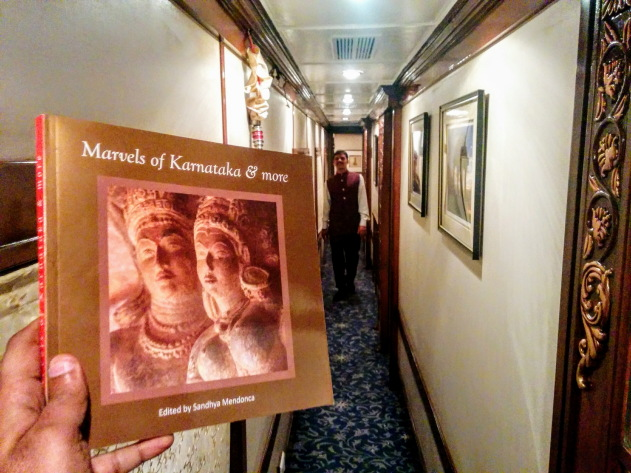 The insides of the luxurious Golden Chariot train