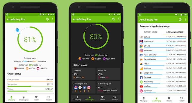 تحميل  تطبيق AccuBattery للكشف على بطارية هواتف اندرويد - Download  AccuBattery