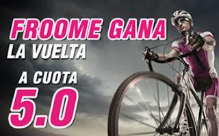 wanabet Cuota mejorada Froome gana la Vuelta a cuota 5.0