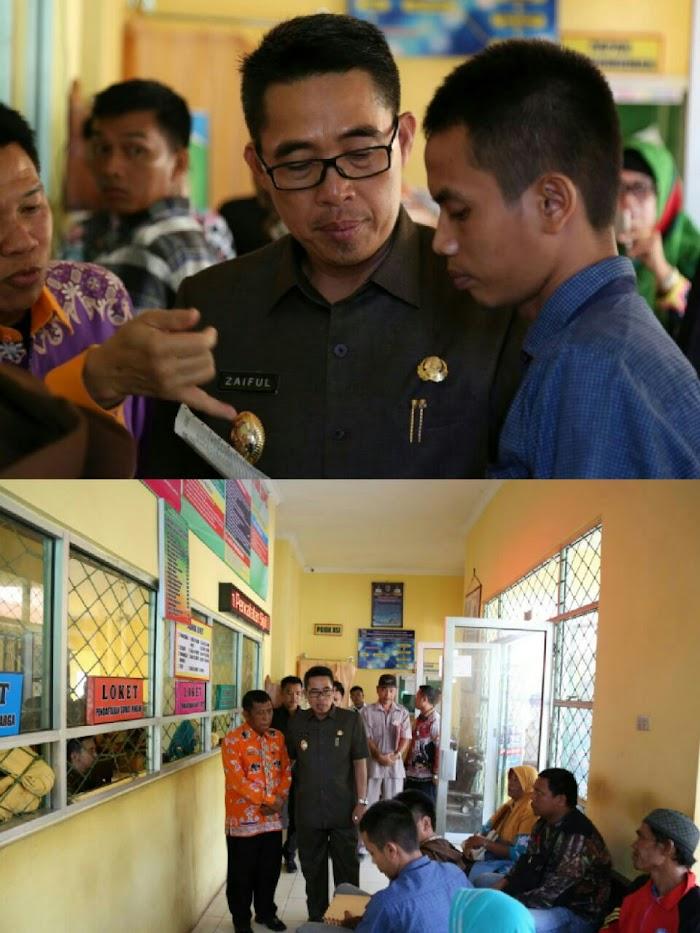 Plt Bupati Lampung Timur Sidak di 4 OPD
