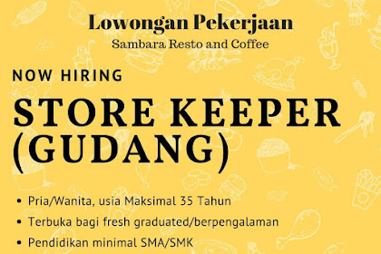 Lowongan kerja Sambara Resto and Coffee Tasikmalaya