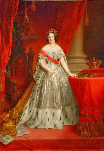 Queen Anna of the Netherlands, née Grand Duchess Anna Pavlovna of Russia by Nicaise de Keyser, 1849