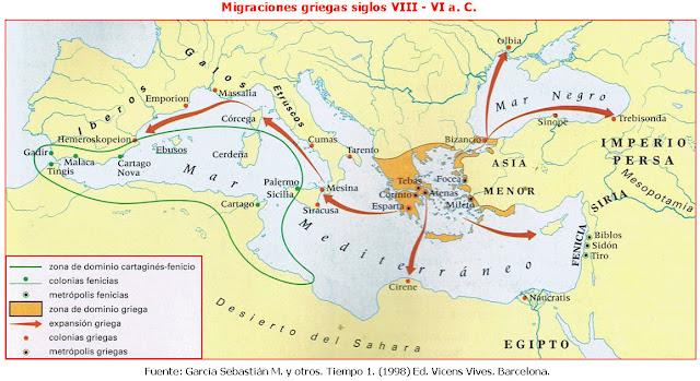 expansión griega