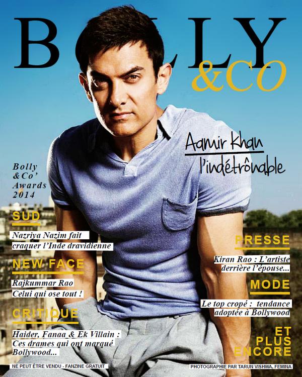 cover magazine français avec acteur Aamir Khan
