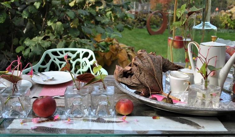 Dekorieren im Herbst - Garteneinladung